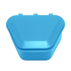 "Tiger's Plastics 1-3/4"" Denture Box - Light Blue, 150/Box. Denture Storage"