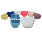 "Tiger's Plastics 1-3/4"" Denture Box - Assorted Colors, 150/Box. Denture Storage"