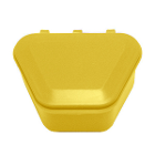 "Tiger's Plastics 1-3/4"" Denture Box - Yellow, 300/Box. Denture Storage Cases"