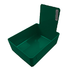 Tiger's Plastics Standard Lab Pans, Forest Green - w/ Stainless Steal Clip