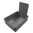 Tiger's Plastics Standard Lab Pans, Gray - w/ Stainless Steel Clip. 12/Box