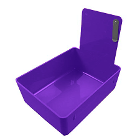 Tiger's Plastics Standard Lab Pans, Purple - w/ Stainless Steal Clip. 12/Box
