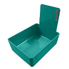 Tiger's Plastics Standard Lab Pans, Teal - w/ Stainless Steal Clip. 12/Box