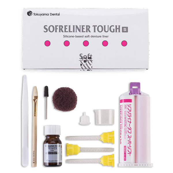 Sofreliner Tough S (Soft) Kit - Silicon Denture S