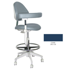 Mirage Assistant's Stool - Cobalt Color. Featuring Abdominal Support, Vertical