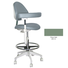 Mirage Assistant's Stool - Dusty Jade Color. Featuring Abdominal Support, Vertical Adjustment
