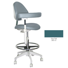 Mirage Assistant's Stool - Grey Teal Color. Featuring Abdominal Support