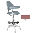 Mirage Assistant's Stool - Mauve Color. Featuring Abdominal Support, Vertical