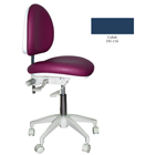 Mirage Doctor's Stool - Cobalt Color. Dimensions: Backrest Vertical Adjustment