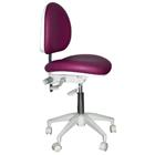 Mirage Doctor's Stool - Desert Rose Color. Dimensions: Backrest Vertical