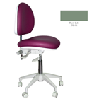 Mirage Doctor's Stool - Dusty Jade Color. Dimensions: Backrest Vertical