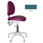 Mirage Doctor's Stool - Grey Teal Color. Dimensions: Backrest Vertical