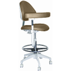 Mirage Assistant's Stool - Taupe Color. Featuring Abdominal Support, Vertical