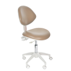 Mirage Doctor's Stool - Taupe Color. Dimensions: Backrest Vertical Adjustment