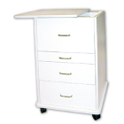 "TPC Assistant's (Alabama) Mobile Cabinet - White. Dimensions: 21.5""W x 19""D x"