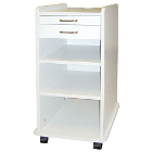 "TPC Utility Mobile Cabinet -Grey. Dimensions: 14.5""W x 16""D x 32""H. Designed"