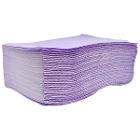 "Valdent USA Patient Bibs LAVENDER 13"" x 18"" 2-Ply Paper/1-Ply Poly 500/Cs"