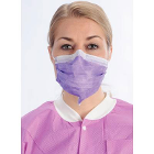ArchAway Double-Seal Earloop Masks - PURPLE 50/Bx. Plastic wire across middle
