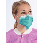 ArchAway Double-Seal Earloop Masks - TEAL 50/Bx. Plastic wire across middle