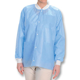 Easy-Breathe Jackets - Ceil Blue, Small 10/Pk. Li