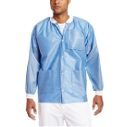 Easy-Breathe Jackets - Medical Blue, X-Large 10/Pk. Light-Weight, Made
