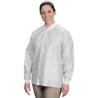 Easy-Breathe Jackets - White, X-Large 10/Pk. Light-Weight, Made of 3-Layer SMS