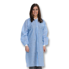 Easy-Breathe Lab Coats - Ceil Blue, Medium 10/Pk. Light-Weight, Made of 3-Layer