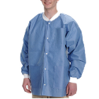Extra-Safe Jacket - Ceil Blue X-Large 10/Pk. Hip-Length, Light-Weight