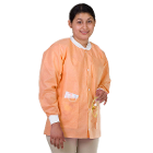 Extra-Safe Jacket - Orange 5X-Large 10/Pk. Hip-Length, Soft 3-layer SMS