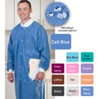 Extra-Safe Lab Coats - Coffee Medium 10/Pk. Knee-Length, Soft 3-layer SMS