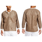 Extra-Safe Jacket - Coffee Small 10/Pk. Hip-Length, Light-Weight, Breathable