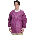 Extra-Safe Jacket - Cranberry Medium 10/Pk. Hip-Length, Light-Weight