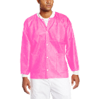 Extra-Safe Jacket - Raspberry Small 10/Pk. Hip-Length, Light-Weight