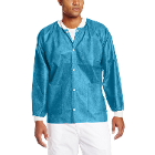 Extra-Safe Jacket - Sky Blue Small 10/Pk. Hip-Length, Light-Weight, Breathable