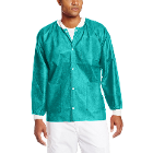 Extra-Safe Jacket - Teal Small 10/Pk. Hip-Length, Light-Weight, Breathable