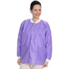 Extra-Safe Jacket - Purple Small 10/Pk. Hip-Length, Light-Weight, Breathable