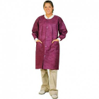 Extra-Safe Lab Coats - Cranberry Small 10/Pk. Knee-Length, Light-Weight