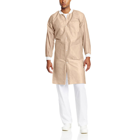 Extra-Safe Lab Coats - Tan X-Large 10/Pk. Knee-Length, Light-Weight