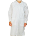 Extra-Safe Lab Coats - White Small 10/Pk. Knee-Length, Light-Weight