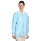 Extra-Safe Jacket - Sky Blue Large 10/Pk. Hip-Length, Light-Weight, Breathable
