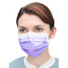 Ultra 3-in-1 Sensitive Ear-Loop Mask - PURPLE, 50/Bx. ASTM Level 2. Sensitive
