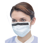 Ultra 3-in-1 Sensitive Ear-Loop Mask with Visor - SKY BLUE, 25/Bx. ASTM Level