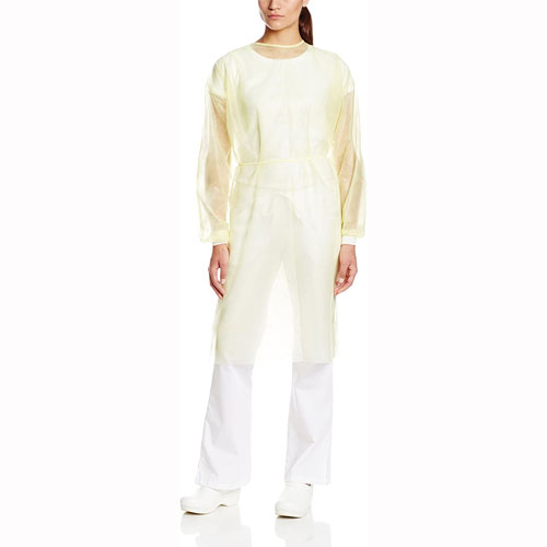 ValuMax Isolation Gowns Knit Cuff YELLOW, 10/Pk.