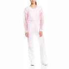 ValuMax Isolation Gowns Knit Cuff PINK. Disposable, knee-length, open