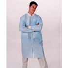 ValuMax Disposable Lab Coats - Sky Blue Large, Knee-Length, Light-Weight Splash
