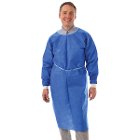 "ValuMax AAMI Level 2 Isolation Gown, 10/Pk, Royal Blue, Regular Size - 44"" L x"