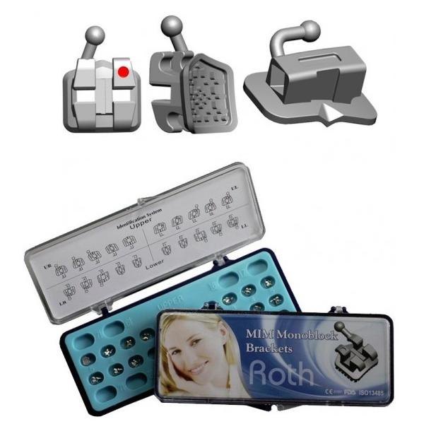 GooDent-Ortho T-M+ Bracket  0 022 MIM MonoBlock Low Profile, Mini Roth  Bracket