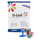 D-Lish Coarse Mint Prophy Paste with Fluoride. Box of 200 Unit Dose Cups