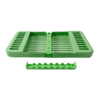 "Compact Cassette Green 4"" x 7"" x 5/8"", Multi-Instrument Sterilization, Holds 8"
