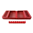 "Compact Cassette RED 4"" x 7"" x 5/8"", Multi-Instrument Sterilization, Holds 8"